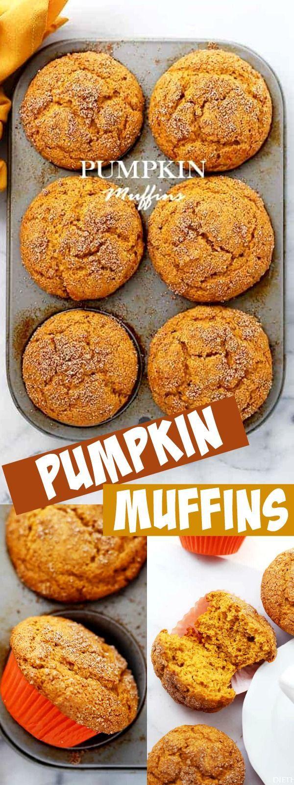 ¡MUFFINS DE CALABAZA! Muffins de calabaza – Empacados con calabaza y cubiertos con canela …  – breakfast