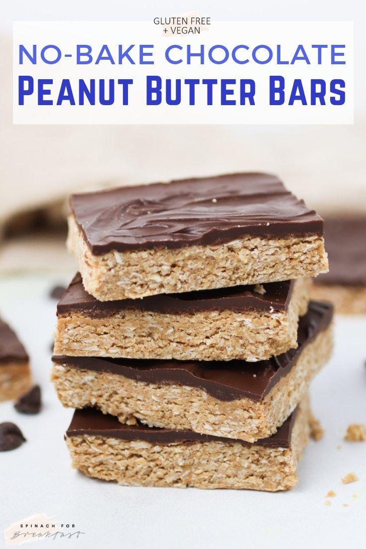 Healthier No-Bake Chocolate Peanut Butter Squares
