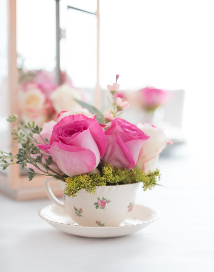 Craftberry Bush | DIY Teacup Floral Arrangement | http://www.craftberrybush.com
