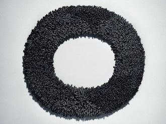 Tone Vigeland: Necklace 1985, silver, inner Ø 16 cm, outer Ø 22 cm.