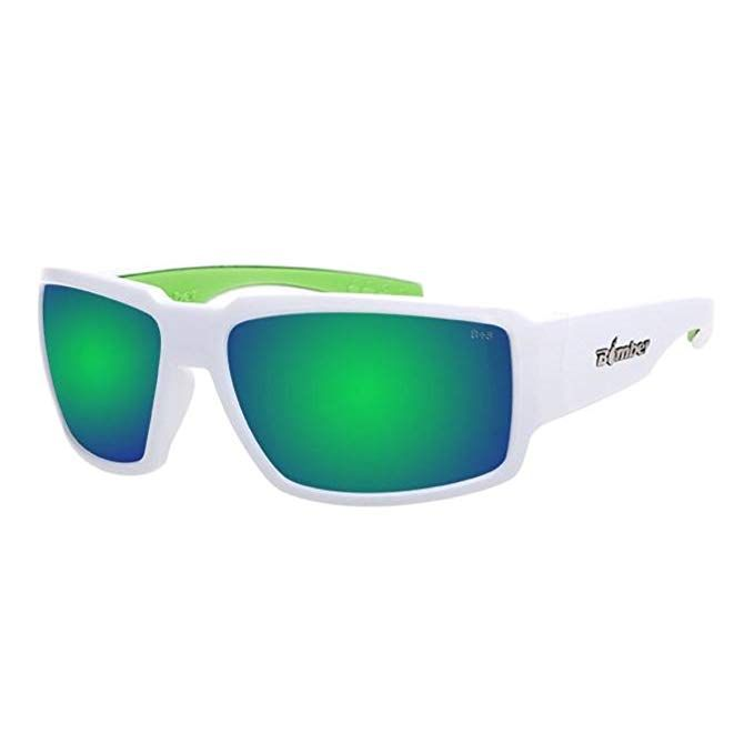 bdb1391a05 Bomber Sunglasses - Boogie Bomb Glossy White Frm Green Mirror Pc Lens Green  Foam Review