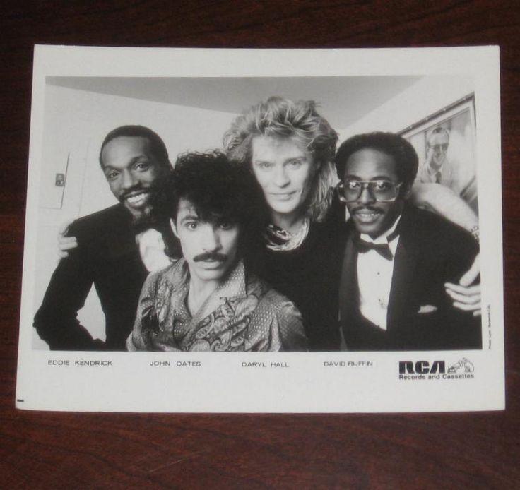 Hall and Oates Eddie Kendrick David Ruffin Live At The Apollo Promo Press Photo