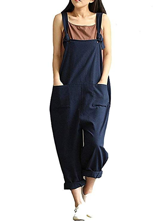 96efc264c7 Women s Casual Jumpsuits Overalls Baggy Bib Pants Plus Size Wide Leg Rompers  - Blogging ERA