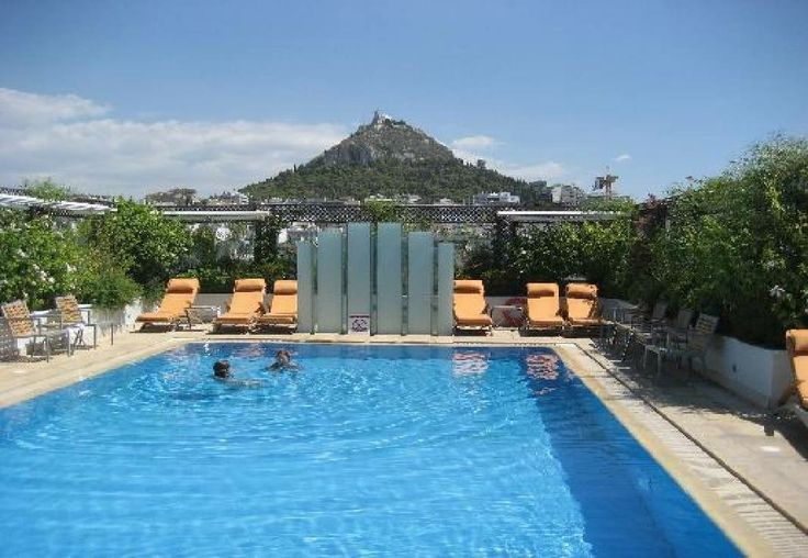 The Pool at the Hotel Grande Bretagne Athens Greece