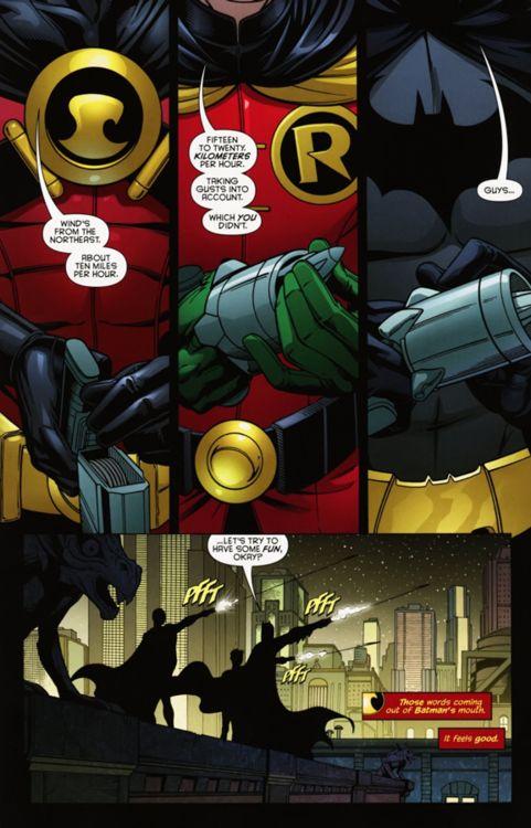 Tim Drake, Damian Wayne & Dick Grayson.