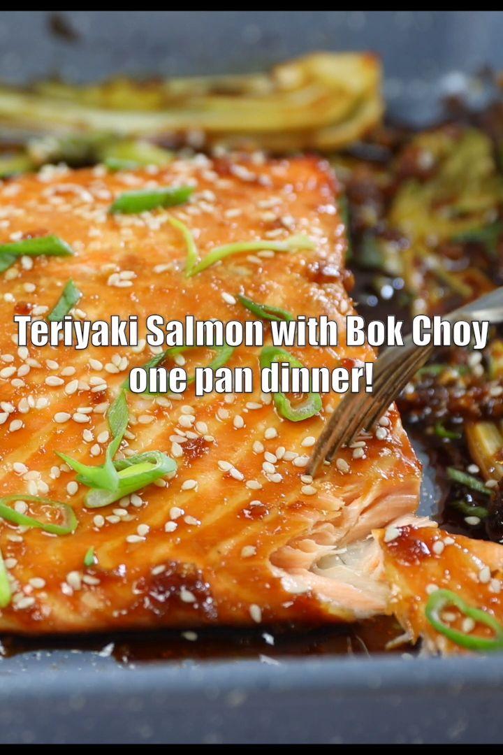 Teriyaki Salmon with Bok Choy