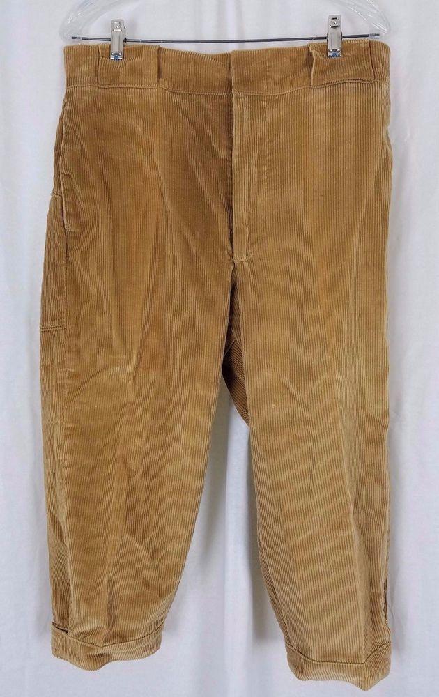 Vintage Men's Woolrich Golf Knickers Tan Corduroy Pants Breeches Sand 34 x 20.5 #Woolrich