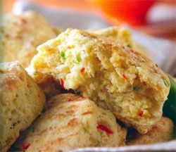 Recipe: Southwestern Scones (toaster oven and food processor or blender, with photo) - Recipelink.com