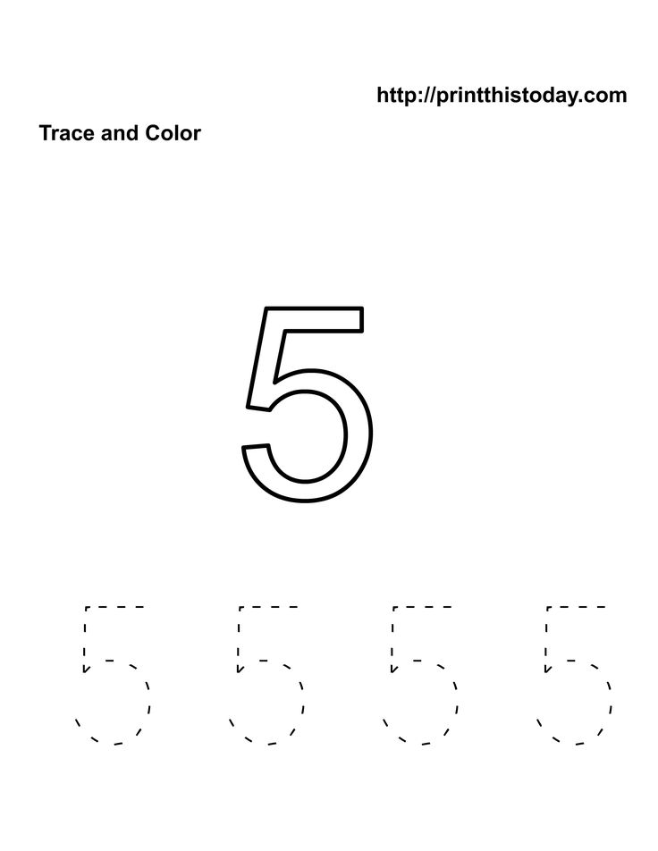 Number 5 Worksheets For Preschool