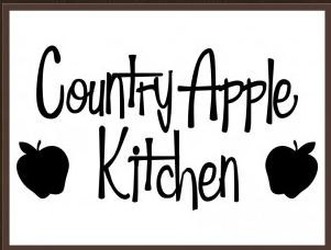 Country Apple Kitchen Decor | Country Apple Kitchen Vinyl Decor Decal  Sticker Home Wall Art Quote