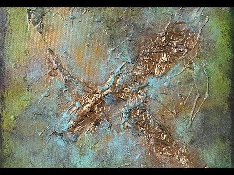 Abstract Painting using Aluminum Foil