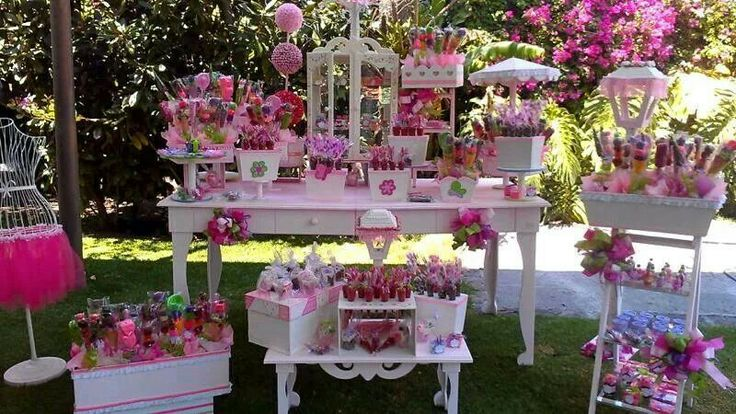 Mesa de dulces rosa baby shower pinterest so cute - Decoracion de mesas para eventos ...