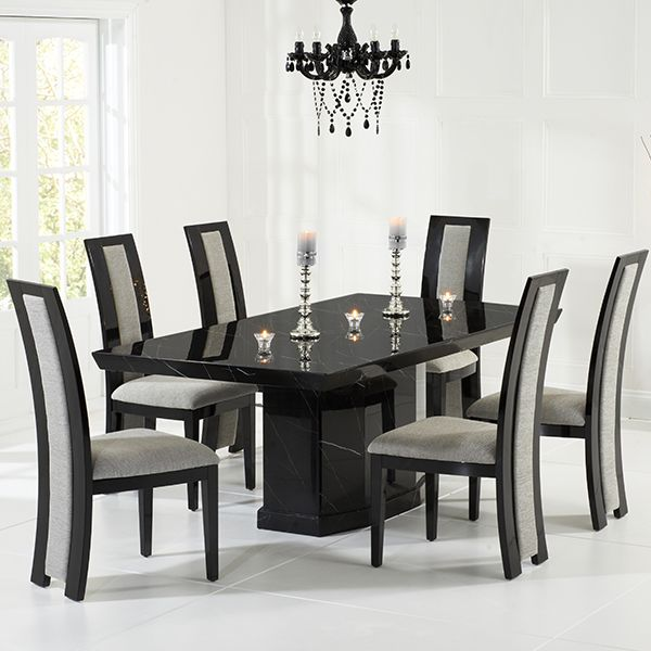 Black Dining Table Decordiyhome Com In 2020 Dining Table Marble Marble Dining Table Set Contemporary Dining Table
