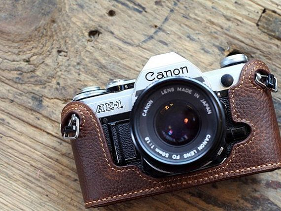 CANON AE-1 AE-1p a-1 leather cameras case Canon by CamerasBagShop