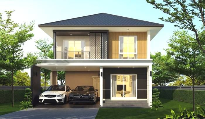 Simple And Affordable Three Bedroom Double Storey House Design Ulric Home In 2020 Small House Design Philippines Bungalow House Design 2 Storey House Design