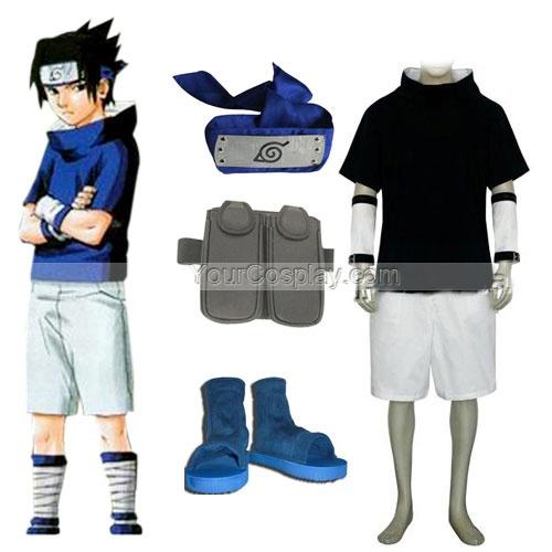 Naruto Sasuke Uchiha Mens Cosplay Costume and Accessories, Naruto Cosplay Costumes, Cosplay Costumes