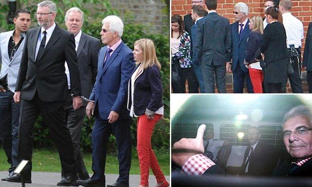 Max Clifford is let out of prison to attend his brother's funeral