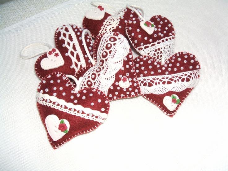 cuori rossi con lavanda