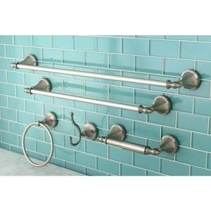 Kingston Brass 5-Piece Bathroom Accessory Set in Satin Nickel-HBAHK1612478SN at The Home Depot