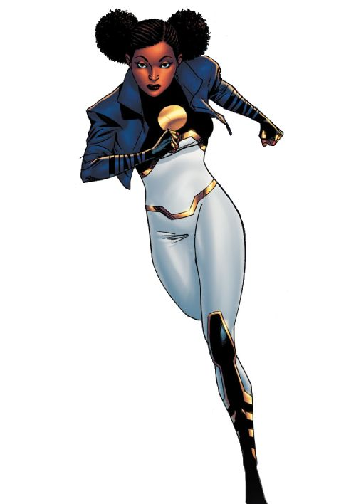 dcwomenofcolor:  Tanya Spears as Power Girl on Teen Titans #6 She will join the team from #5.