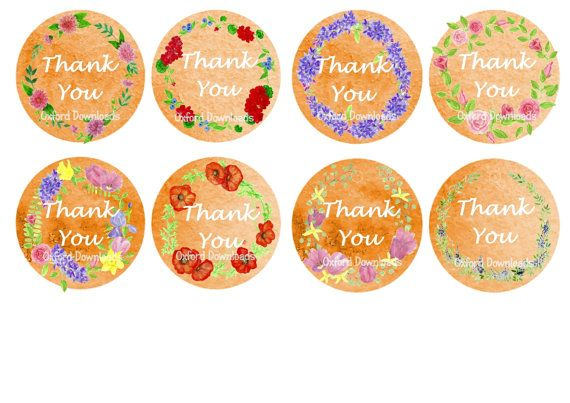 Floral Gift Tags Foral Print Printable Art by OxfordDownloads
