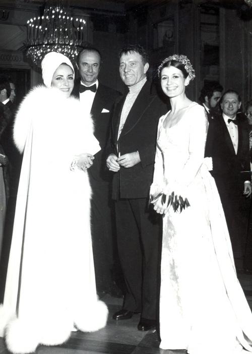 Elizabeth Taylor, Carla Fracci and Richard Burton at La Scala inMilan in 1972