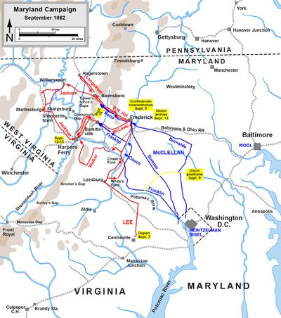 Antietam Battlefield  Bloodiest battle in the Civil War