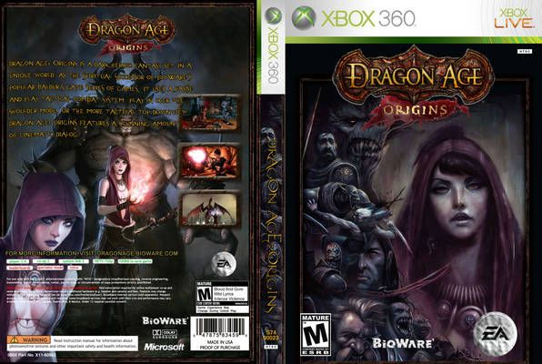 Dragon Age: Origins NTSC front Xbox 360 Cover