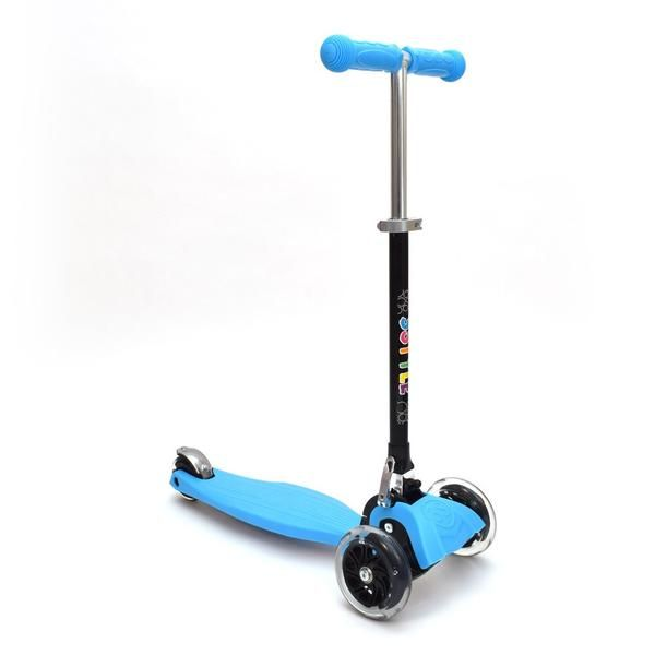 RGS-1 3 Wheel Blue Kick Scooter with LED Lights in Wheels | 3Style Scooters