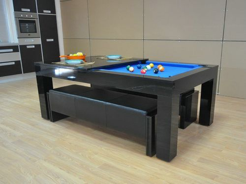 Black Pool Table Dining Table