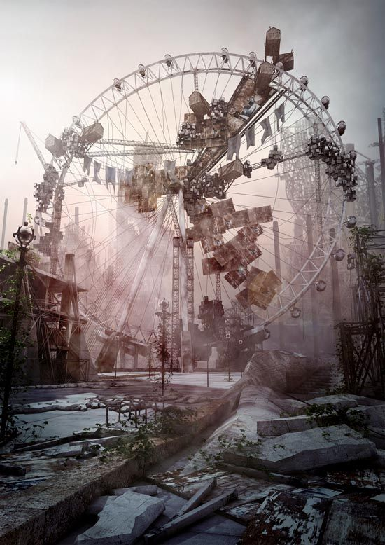 ♂ Aged with beauty Abandoned amusement parkMoises Gil