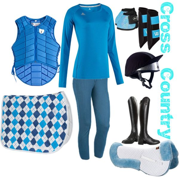 """Blue Cross-Country"" by forest-fashion on Polyvore"
