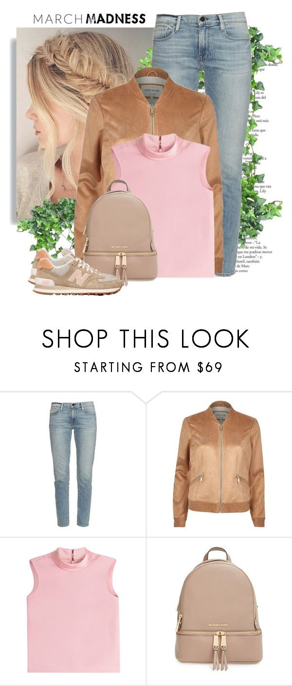 """March Madness: High Tops"" by andrejae ❤ liked on Polyvore featuring Frame, River Island, RED Valentino, MICHAEL Michael Kors, New Balance and hightops"