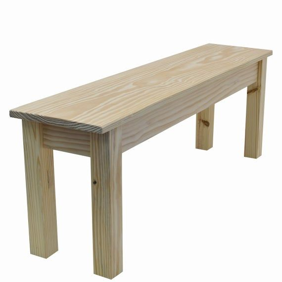 Unfinished Farmhouse Bench Rustic Solid Wood Bench In 2020 Farmhouse Chairs Wood Storage Bench Wood