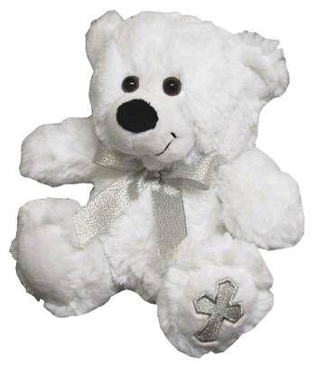 Silver Cross Christening Bear, Baby Plush Teddy Baptism gift