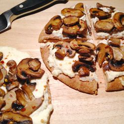 Healthy Recipe From Joy Bauer's Food Cures Ricotta-Mushroom Pita Pizza