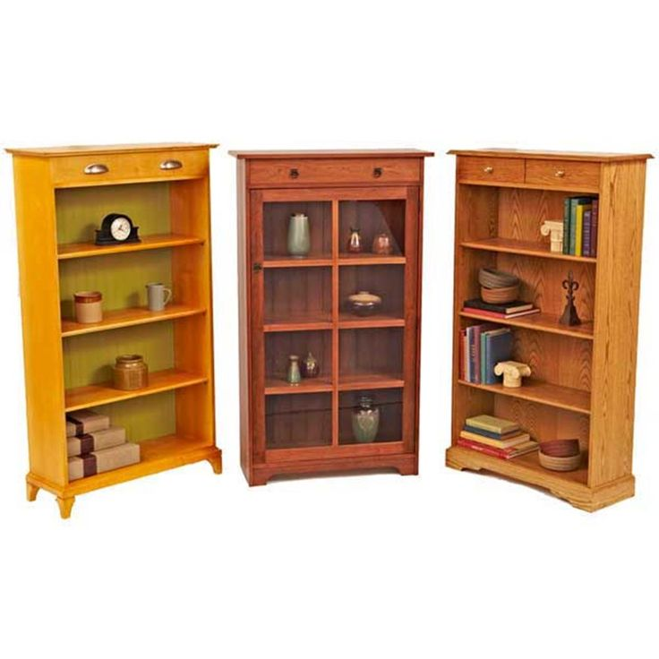 Wood magazine bookcase plans woodworking projects