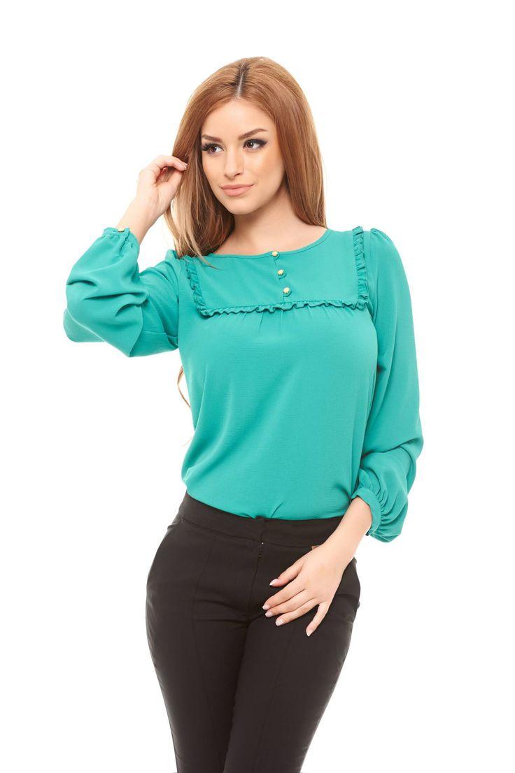 LaDonna Charisma Green Blouse