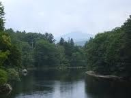 The Carrabassett River flows through Kingfield.  There are swimming holes and fishing spots along the way and beautiful vistas everywhere.