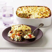 Gratin de riz au thon féculents  UnitésProPoints : 7Parts : 6Temps de préparation : 15minTemps de cuisson : 25minNiveau de difficulté : Facile Un plat complet à base de thon facile ...