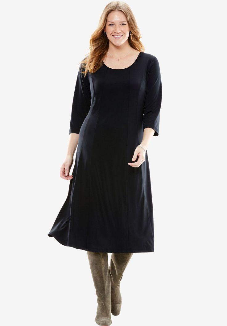 Knit Dress | Plus Size Midi Dresses | Woman Within