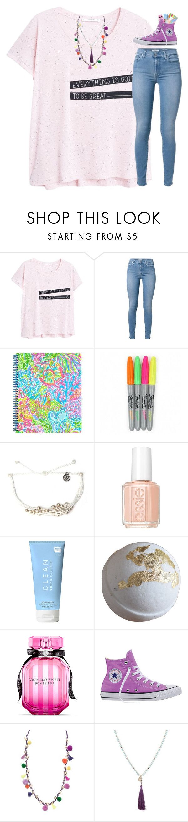 """""""John 8:36"""" by livnewell ❤ liked on Polyvore featuring MANGO, Lilly Pulitzer, Pura Vida, Essie, CLEAN, Victoria's Secret, Converse, Robert Rose and Lonna & Lilly"""