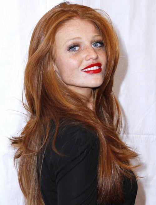 rood haar blauwe ogen - Google zoeken