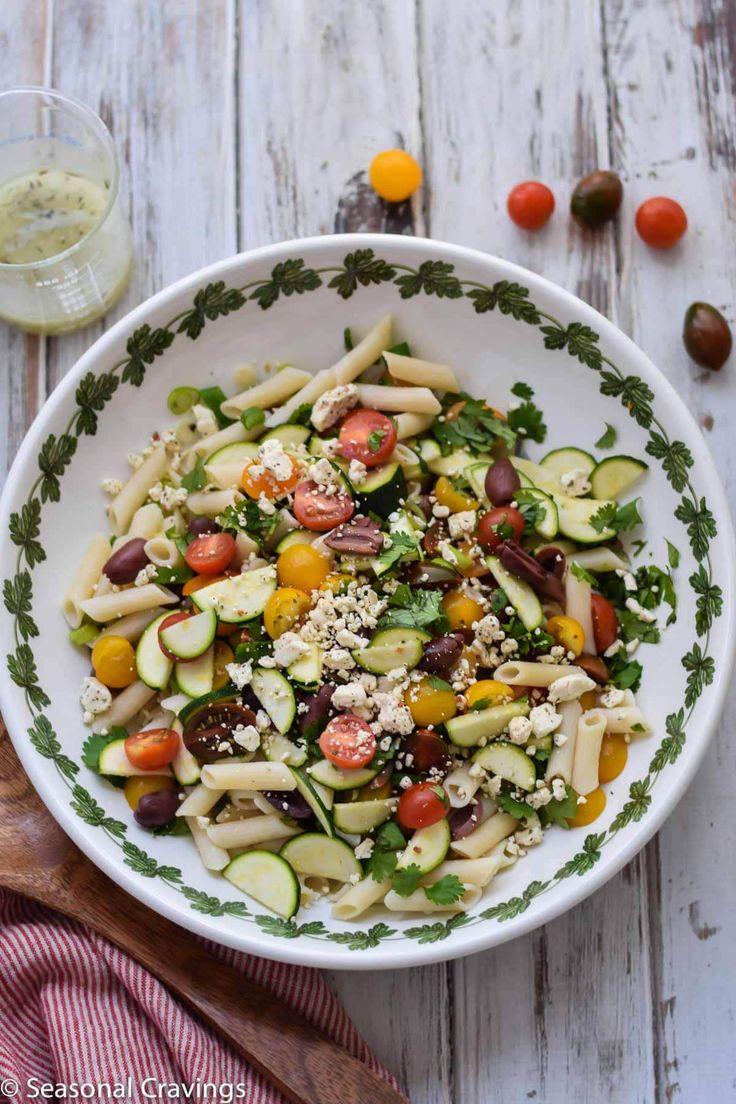 Greek Pasta Salad | Recipe | Greek pasta salads, Greek