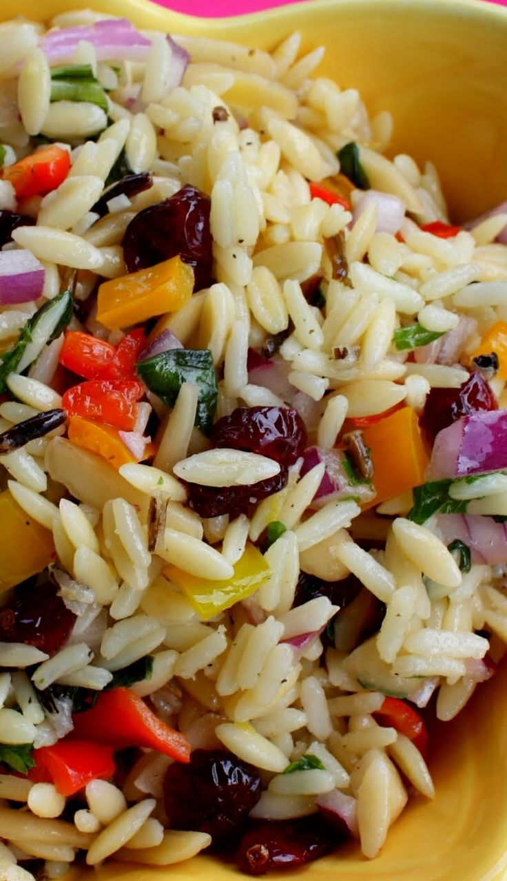 Orzo  Vegetable Confetti Salad:::sub quinoa for the orzo and this is a winning lunch!:::