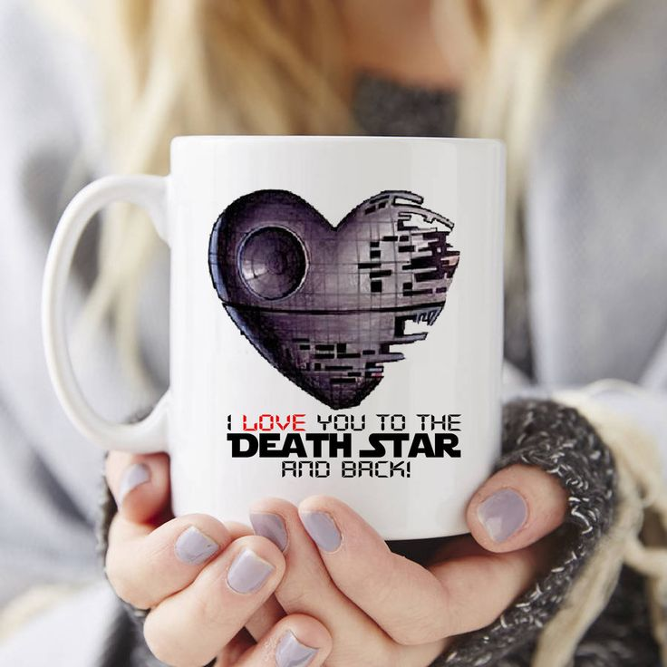 """I love you to the Death Star and back"" Star wars mugs printed //Price: $23.49 & FREE Shipping //     #starwars  #starwarsart  #starwarslove  #starwarsepisode7"