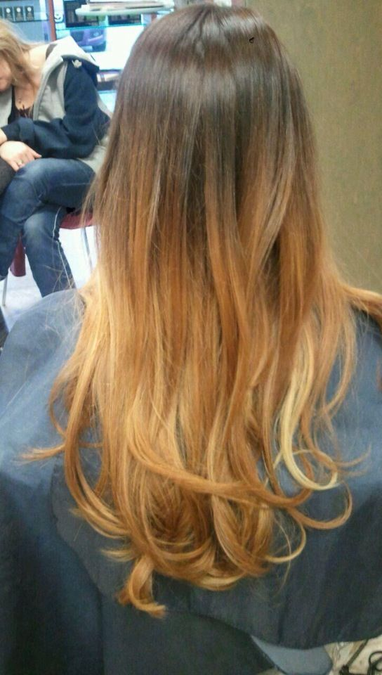 New ombré hair :) #brown #blonde #red #auburn #ombre #hair ...