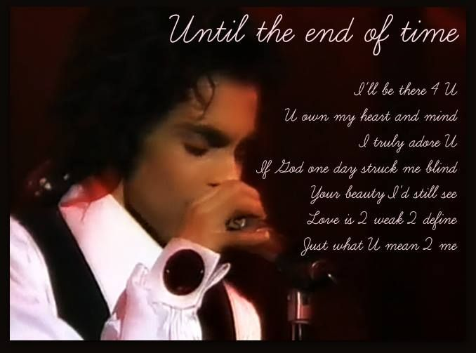 This is why i love prince his lyrics have soooo much meaning and