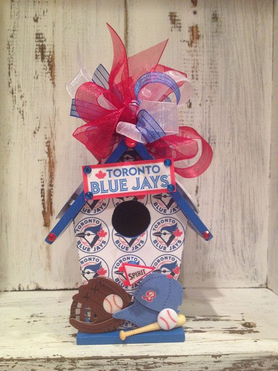 TORONTO Canada Blue Jays Baseball Birthday Birdhouse, Sport Themed Gift, Tailgate Party Gifts, Favor, Decoration,Gift for Him