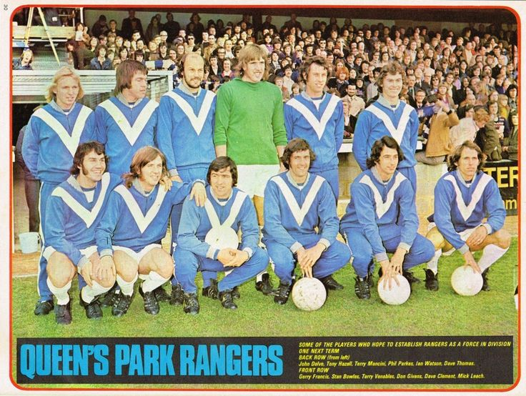 QPR team group in 1976.